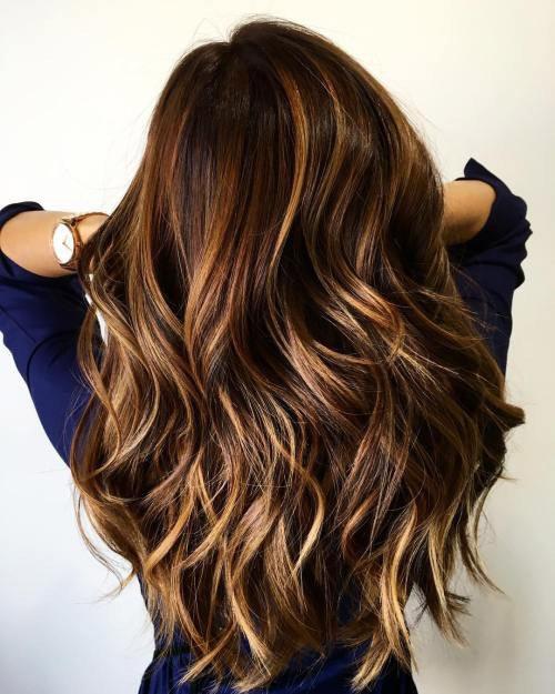 long shiny brown hair